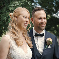 Hochzeitspaar Jessica & Sebastiaan